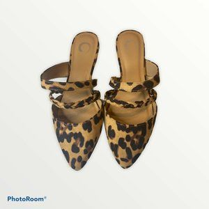 Journee Collection  Olivea Mule Flats Leopard NWOB